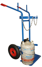 DOSTAWA GRATIS! 13340555 Wózek dwukołowy spawalniczy do przewozu butli gazowych (nośność: 400 kg)
