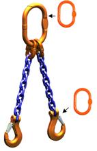 DOSTAWA GRATIS! 33948220 Zawiesie łańcuchowe dwucięgnowe klasy 10 miproSling AS 20,0/14,0 (długość łańcucha: 1m, udźwig: 14-20 T, średnica łańcucha: 19 mm, wymiary ogniwa: 260x140 mm)