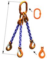 DOSTAWA GRATIS! 33948227 Zawiesie łańcuchowe trzycięgnowe klasy 10 miproSling LCS 21,2/15,0 (długość łańcucha: 1m, udźwig: 15-21,2 T, średnica łańcucha: 16 mm, wymiary ogniwa: 260x140 mm)