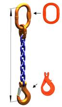 DOSTAWA GRATIS! 33948246 Zawiesie łańcuchowe jednocięgnowe klasy 10 miproSling KLHW 19 (długość łańcucha: 1m, udźwig: 19 T, średnica łańcucha: 22 mm, wymiary ogniwa: 260x140 mm)