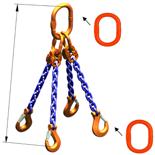 DOSTAWA GRATIS! 33948297 Zawiesie łańcuchowe czterocięgnowe klasy 10 miproSling A8W 40,0/28,0 (długość łańcucha: 1m, udźwig: 28-40 T, średnica łańcucha: 22 mm, wymiary ogniwa: 350x190 mm)