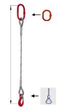 DOSTAWA GRATIS! 33948360 Zawiesie linowe jednocięgnowe miproSling FK 21,00 (długość liny: 1m, udźwig: 21 T, średnica liny: 44 mm, wymiary ogniwa: 275x150 mm)
