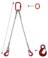 DOSTAWA GRATIS! 33948371 Zawiesie linowe dwucięgnowe miproSling HE 40,0/29,0 (długość liny: 1m, udźwig: 29-40 T, średnica liny: 52 mm, wymiary ogniwa: 400x200 mm)