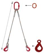 DOSTAWA GRATIS! 33948385 Zawiesie linowe dwucięgnowe miproSling LE 23,5/17,0 (długość liny: 1m, udźwig: 17-23,5 T, średnica liny: 40 mm, wymiary ogniwa: 340x180 mm)