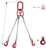 DOSTAWA GRATIS! 33948433 Zawiesie linowe trzycięgnowe miproSling LE 23,5/16,5 (długość liny: 1m, udźwig: 16,5-23,5 T, średnica liny: 32 mm, wymiary ogniwa: 340x180 mm)