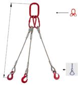 DOSTAWA GRATIS! 33948454 Zawiesie linowe trzycięgnowe miproSling FK 36,0/26,0 (długość liny: 1m, udźwig: 26-36 T, średnica liny: 40 mm, wymiary ogniwa: 350x190 mm)