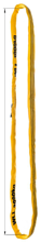 DOSTAWA GRATIS! 33948521 Zawiesie wężowe o obwodzie zamkniętym, kolor: pomarańczowy miproSling (długość pasa: 5 m, udźwig: 30000 kg)