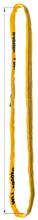 DOSTAWA GRATIS! 33948522 Zawiesie wężowe o obwodzie zamkniętym, kolor: pomarańczowy miproSling (długość pasa: 3 m, udźwig: 40000 kg)