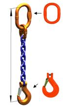 DOSTAWA GRATIS! 33971822 Zawiesie łańcuchowe jednocięgnowe klasy 10 miproSling KHSW 6,7 (długość łańcucha: 1m, udźwig: 6,7 T, średnica łańcucha: 13 mm, wymiary ogniwa: 160x90 mm)