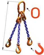 DOSTAWA GRATIS! 33971879 Zawiesie łańcuchowe trzycięgnowe klasy 10 miproSling KFW 8,0/6,0 (długość łańcucha: 1m, udźwig: 3,75-5,3 T, średnica łańcucha: 10 mm, wymiary ogniwa: 180x100 mm)