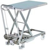 DOSTAWA GRATIS! 39955549 Wózek platformowy nierdzewny nożycowy (wymiary platformy: 700x450mm, udźwig: 100 kg, wysokość podnoszenia min/max: 270-750 mm)