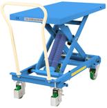 DOSTAWA GRATIS! 39955552 Wózek platformowy nierdzewny nożycowy ze sprężyną (wymiary platformy: 813x500mm, udźwig: 210 kg, wysokość podnoszenia min/max: 350-770 mm)