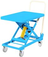DOSTAWA GRATIS! 39955554 Wózek platformowy nierdzewny nożycowy ze sprężyną (wymiary platformy: 700x450mm, udźwig: 50 kg, wysokość podnoszenia min/max: 262-659 mm)