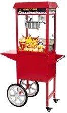 DOSTAWA GRATIS! 45643432 Maszyna do popcornu z wózkiem Royal Catering RCPW-16E (moc: 1600W, wydajność: 5 - 6 kg/h)