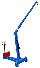 DOSTAWA GRATIS! 61755419 Żuraw hydrauliczny ręczny z przeciwwagą (udźwig: od 130 do 300 kg)