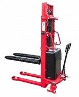 DOSTAWA GRATIS! 62666875 Wózek półelektryczny (udźwig: 1500kg, długość wideł: 1150mm, zakres podnoszenia: 90-3000mm)