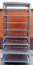 DOSTAWA GRATIS! 77156807 Regał ocynkowany z 8 wysuwanymi półkami (wymiary: 2000x940x400 mm, obciążenie półki: 40 kg)