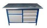 DOSTAWA GRATIS! 77156896 Stół warsztatowy, 6 szuflad, 1 szafka (wymiary: 2000x750x900 mm)
