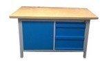 DOSTAWA GRATIS! 77156924 Stół warsztatowy z nadbudową, 3 szuflady, 1 szafka (wymiary: 1500x750x900 mm)