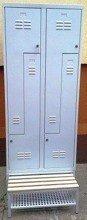 DOSTAWA GRATIS! 77157031 Szafa odzieżowa z przegrodami i ławką, 4 drzwi L (wymiary: 1800x800x480 mm)