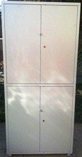 DOSTAWA GRATIS! 77157110 Szafa biurowa, 2 poziomy, 4 drzwi (wymiary: 2000x900x450 mm)