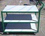 DOSTAWA GRATIS! 77157387 Wózek platformowy, 3 półki (wymiary: 1000x600x980 mm)