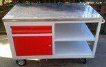 DOSTAWA GRATIS! 77170822 Wózek narzędziowy z szufladą, 2 półki (wymiary: 1250x620x900 mm)