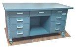 DOSTAWA GRATIS! 91073681 Stół roboczy do pakowania na kółkach (blat: 150x78 cm, wys: 78 cm)