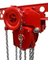 DOSTAWA GRATIS! 9588157 Wciągnik łańcuchowy przejezdny (udźwig: 1,5 T, wysokość podnoszenia: 3m, zakres toru jeznego: 66-106 mm)
