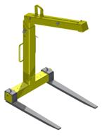 IMPROWEGLE Zawiesie widłowe + łącznik do rotatora 2,5 t (udźwig: 2 T, długość wideł: 980 mm) 33977117