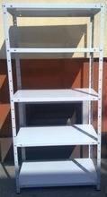 Regał metalowy, 5 półek (wymiary: 2500x1180x800 mm, obciążenie półki: 60 kg) 77170612