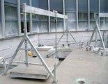 Suwnica bramowa aluminiowa składana + wyciągarka (udźwig: 1500 kg, szerokość: 4,23m, wys. dla pracy wciągarki: 2,23-4,00m, szerokość stelaży: 2,30m) 99978253