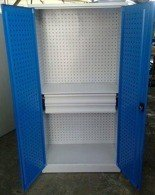 Szafa narzędziowa, 2 szuflady, 2 regulowane półki (wymiary: 1800x900x500 mm) 77157233