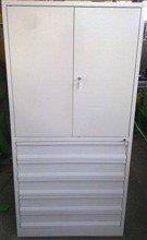 Szafa narzędziowa, 5 szuflad, 2 przestawiane półki (wymiary: 2000x900x500 mm) 77157231