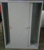 Szafa narzędziowa, drzwi przesuwane, 4 półki regulowane (wymiary: 2000x1200x500 mm) 77157217
