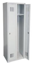 Szafka ubraniowa 0,5mm, 2 drzwi, zamek cylindryczny zamykany w 1 punkcie (wymiary: 1800x600x500 mm) 99551926