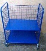 Wózek 2-półkowy osiatkowany (wymiary: 800x450x900 mm) 77157337