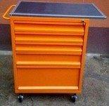 Wózek narzędziowy z blatem, 5 szuflad (wymiary: 1200x600x500 mm) 77157354