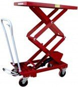 Wózek platformowy nożycowy (udźwig: 500 kg, wymiary platformy: 1010x520 mm, wysokość podnoszenia min/max: 440-1575 mm) 0301626