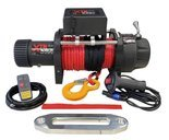 Wyciągarka XTR 15000lbs [6810kg] z liną syntetyczną 12V (lina: 10mm w oplocie z dużym hakiem 28m) 81877821
