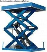 01862940 Podnośnik, podest nożycowy (udźwig: 1500 kg, wymiary platformy: 2500x2000mm, wysokość podnoszenia min/max: 300-1600 mm, moc: 2,3kW)