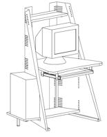 99551902 Stolik komputerowy (wymiary: 1400x898x692 mm)