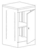 99551911 Szafka biurowa, drzwi, 1 półka (wymiary: 745x435x440 mm)