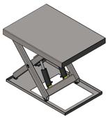 DOSTAWA GRATIS! 01860194 Podnośnik, podest nożycowy, cylindry ze stali nierdzewnej (udźwig: 2000 kg, wymiary platformy: 1400x1100mm, wysokość podnoszenia min/max: 230-1130 mm, moc: 1,1kW)