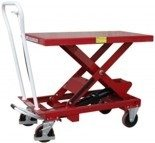 DOSTAWA GRATIS! 0301620 Wózek platformowy nożycowy (udźwig: 150 kg, wymiary platformy: 700x450 mm, wysokość podnoszenia min/max: 265-755 mm)