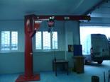 DOSTAWA GRATIS! 03058380 Żuraw słupowy obrotowy + wciągnik łańcuchowy elektryczny na wózku elektrycznym (udźwig: 1000 kg, długość ramienia: 4000 mm)