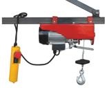 DOSTAWA GRATIS! 08126408 Wciągarka elektryczna linowa budowlana + lina 15m + sterowanie ręczne 1,5m (udźwig: 100/200 kg)