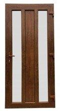 DOSTAWA GRATIS! 26271899 Drzwi zewnętrzne wejściowe (kolor: złoty dąb, strona: prawa, szerokość: 100 cm)