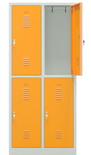 DOSTAWA GRATIS! 32773139 Szafka szkolna dla 8 uczniów, 4 drzwi z zamkiem szyfrowym (wymiary: 180x80x49cm mm)