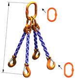 DOSTAWA GRATIS! 33948239 Zawiesie łańcuchowe czterocięgnowe klasy 10 miproSling AS 21,2/15,0 (długość łańcucha: 1m, udźwig: 15-21,2 T, średnica łańcucha: 16 mm, wymiary ogniwa: 260x140 mm)